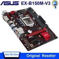 Carte mère de bureau Asus EX-B150M-V3 DDR4 LGA 1151 Intel B150 DDR4 32GB PCI-E 3.0 USB3.0 Micro ATX i7 i5 carte mère d'origine utilisée