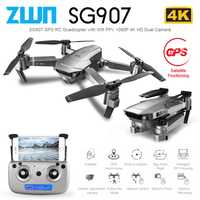 ZWN SG907 SG901 GPS Drone avec Wifi FPV 1080P 4K HD double caméra flux optique RC quadrirotor suivez-moi Mini Dron VS SG106 E520S