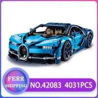 Technic Race Car 20086 20086C 20001 bloques de construcción de ladrillos compatibles con lEGOED 42083 42056 regalo de Navidad Bugatti car Chiron