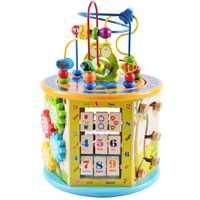 Montessori aprendizaje de la primera infancia juguetes educativos regalo de madera niños Color conocimiento rompecabezas matemáticas juguetes para bebé