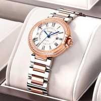 Suiza carnaval 2020 nuevos relojes de mujer marca de lujo diamante importado cuarzo reloj de mujer de moda reloj de vestir montre femme