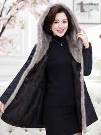 Abrigo de piel auténtica de visón, chaqueta de invierno 2020, Parka de piel Natural de lujo para mujer, abrigo largo coreano para mujer, Parkas con capucha MY3613 s