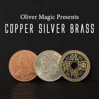 Nouveautés cuivre argent laiton Transposition gros plan Coin tours de magie accessoires de magie mentalisme magie rue magique, Gimmicks