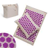 Ensemble d'oreiller pour tapis d'acupuncture Procircle pour tapis d'acupuncture en coton lin de Massage avec sac de cou arrière soulagement de la douleur meilleur sommeil plus profond