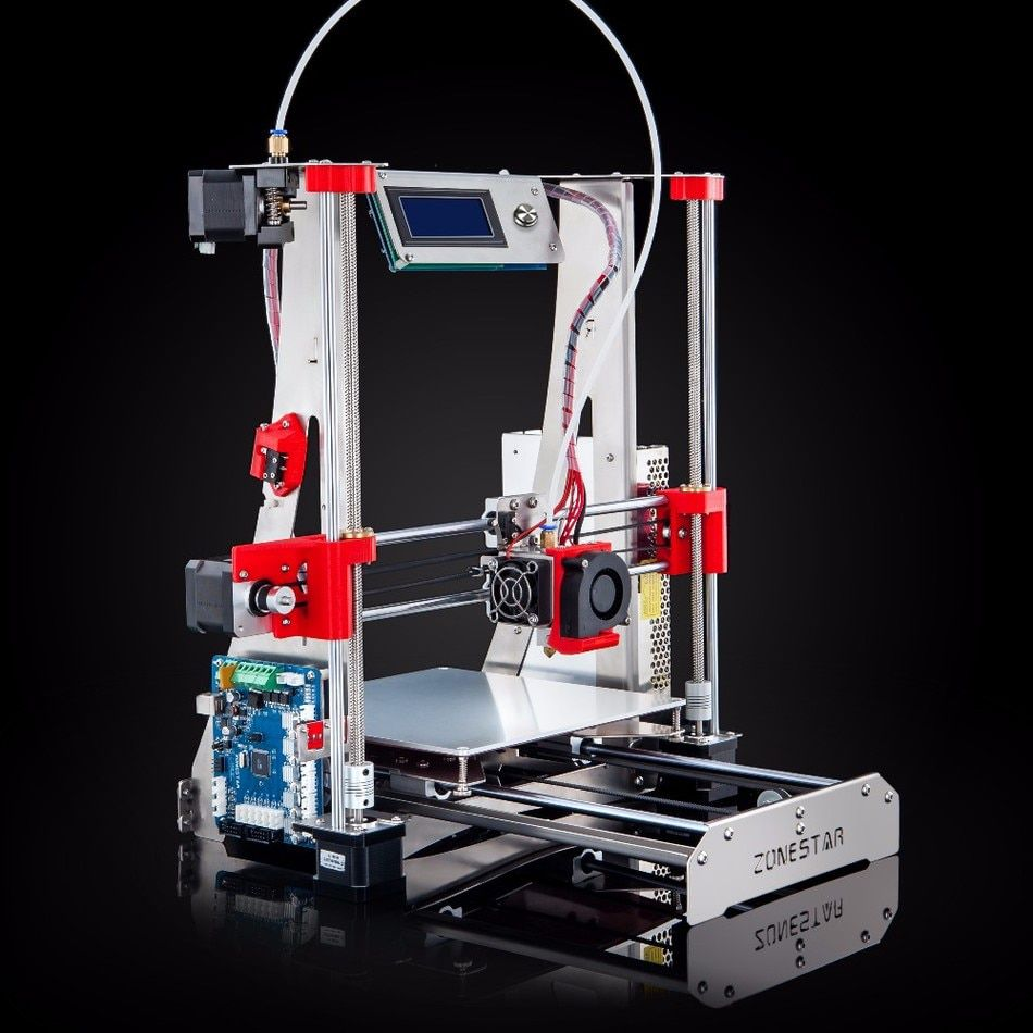 CLJ US $163.06 ZONESTAR Dual Extruder Classics Hot Sale Stainless Steel Full Metal Frame Auto Leveling Cheap 3D Printer DIY Kit Free Shipping