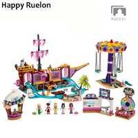 Nouveaux amis ensemble parc d'attractions adapté pour les amis legoely 41375 modèle bloc de construction briques jouets pour fille cadeaux de noël