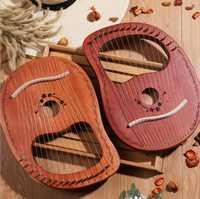 10/16 chaîne bois Lier harpe piège en métal Mahony bois massif Instrument à cordes avec Draagbag