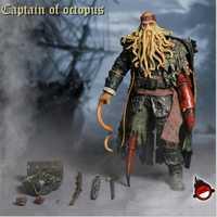 Escala 1/6 Davy Jones Piratas del Caribe capitán de pulpo MODELO DE figura de acción juguetes Set coleccionable para los Fans de regalo