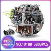 05035 Star Wars bloques de construcción ladrillos muerte Star Wars TIE Fighter Compatible con LegoINGlys 10188 juguetes educativos niños regalos