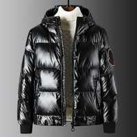2019 Monclair Faux cuir sweats à capuche veste épais chaud vêtements d'extérieur Winterjacke Herren mâle Parkas erkek montlar erkek mont M-5XL