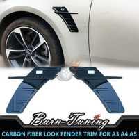 Garniture de protection de garde-boue en ABS Style FIber de carbone pour Audi A3 A4 A5 A6 A7 Q3 Q5 Q7