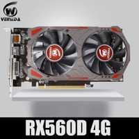 Tarjeta de vídeo VEINIDA Radeon RX 560D GPU 4GB GDDR5 128 bits, escritorio, ordenador, tarjetas gráficas, PCI Express3.0 para tarjeta Amd