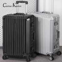Super moda nueva maleta de viaje maleta de negocios caja de la carretilla En la rueda de aluminio marco duro maleta silenciosa
