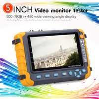 5 pulgadas 4IN1 probador de la cámara del monitor 4K 1080P IPC CCTV Monitor de vídeo Audio prueba de POE pantalla táctil HDMl cámara CCTV pantalla