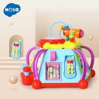 Éducatif bébé enfant en bas âge enfants jouet activité musicale Cube Center de jeu avec 15 fonctions et compétences apprentissage jouets éducatifs cadeaux