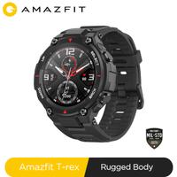 Nouveau 2020 CES Amazfit T rex t-rex Smartwatch Contrl musique 5ATM montre intelligente GPS/GLONASS 20 jours battry life MIL-STD pour Xiaomi iOS