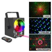 Date 2019 DJ laser rvb scène lumière projecteur LED effet lampe disco noël vacances barre éclairage fête intérieur lampe à distance