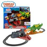 Original de Thomas y amigos pista maestro dragón escapar de FXX66 chico juguete Dicast coche de tren de ferrocarril edificio juego para Navidad.