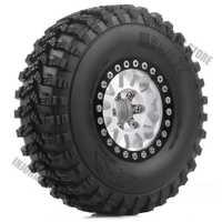 4 pièces RC voiture Terrain camion pneus et jante de roue 1.9 pouces pour 1:10 RC chenille axiale SCX10 90046 Voodoo KLR TRX4 D90