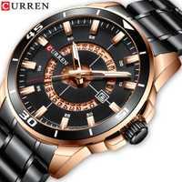 2019 CURREN nuevos Relojes de negocios reloj de pulsera de cuarzo de marca de hombre reloj de pulsera de acero inoxidable resistente al agua reloj de moda para caballeros Relojes