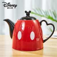 1200ml Disney Mickey dessin animé eau bouilloire café lait thé petit déjeuner bouilloire en céramique maison bureau Collection Pot Festival cadeaux