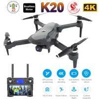 2019 nouveau Drone K20 avec caméra 4K double GPS une clé retour Mode sans tête suivez-moi cercle mouche RC Drones jouets
