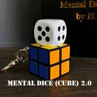 Dés mentaux (Cube) 2.0-recharge sans fil tours de magie magicien gros plan Illusions accessoire de Gimmick métalisme âme prédiction Magia