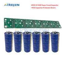 6 unids/set condensador Super Farad 3V 500F alta frecuencia ESR 4 pies 3V500F súper condensador simple con protección junta para coche