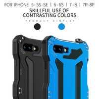 Impermeable a prueba de golpes a prueba de suciedad Touch ID vidrio templado aluminio Metal funda para iphone XS max Original R-just lujo