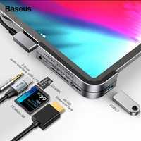 Moyeu de USB C Baseus pour iPad Pro 12.9 11 2018 moyeu de Type C vers HDMI USB 3.0 Port PD prise 3.5mm USB-C adaptateur de moyeu USB pour MacBook Pro
