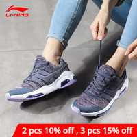 Li-ning mujeres Bubble Face DB Cushion Lifestyle Shoes Fitness Comfort transpirable forro Li Ning Zapatos de deporte AGCN008 YXB139