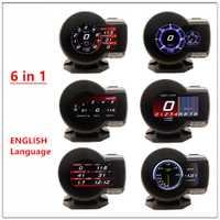 Medidor de aumento Digital para coche profesional mago F8 F835 OBD 2 medidor de velocidad de voltaje de visualización ect alarma de agua de diagnóstico automático