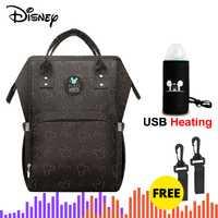 Disney Mochila Maternidade sacs à couches imperméables USB bouteille alimentation voyage sac à dos bébé sacs pour maman sac de rangement sacs momie