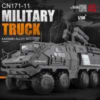 1: 50 modelo de coche de aleación de tierra errante transporte militar Vehículo de Transporte Camión Grúa ingeniería modelo de coche colección de Juguetes