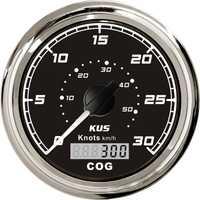 1pc 100% nuevo GPS gráficos de velocidad velocímetros 0-30Knots SUS316L dispositivo bisel 0-50 km/h para barco con antena, GPS negro
