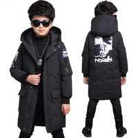 Garçons veste d'hiver-30 degrés enfants vêtements chaud vers le bas veste à capuche manteau imperméable épaissir vêtements d'extérieur enfants parka