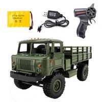 WPL B-24 Camión Militar de Control remoto DIY todoterreno 4WD RC coche 4 ruedas Buggy Drive escalada GAZ-66 vehículo para Regalo de Cumpleaños de juguete