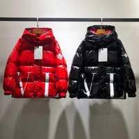 Marque enfants à capuche canard vers le bas manteau rouge noir tenues garçons hiver épais vestes