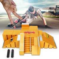 El monopatín de juguete diapasón Skate Park diapasón parques Mini monopatín de juguete s accesorios para mástil regalo para los niños