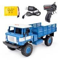 1:16 RC Toy Military Truck Simulation Transporter Toy Control remoto con luz LED fuera de camiones de carretera juguetes para niños