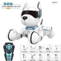 JXD A001 Intelligent parlant RC Robot chien marche et danse interactif animal chiot Robot chien télécommande vocale jouet Intelligent pour les enfants