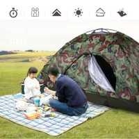 Tienda de campaña de una sola capa portátil al aire libre con camuflaje Wigwam 2 personas impermeable ligera para pescar en la playa