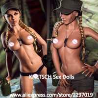 KNETSCH 166cm poupée de sexe complet TPE métal squelette réaliste sein vagin Anus Oral réel Silicone amour poupée pour hommes adultes Sexy poupées
