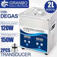 Nettoyeur à ultrasons Granbo 800ML 1.3L 2L 3.2L livraison locale de russie moscou, bain à ultrasons numérique Degas expédition rapide