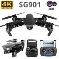SG901 Drone 4K HD double caméra Drone GPS RC hélicoptère Drone professionnel suivez-moi quadrirotor de taille Stable VS LF609 E58 SG907