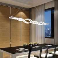 Yonntech 80W cuisine suspension lampe vague design moderne salle à manger étude salle suspension luminaire barre