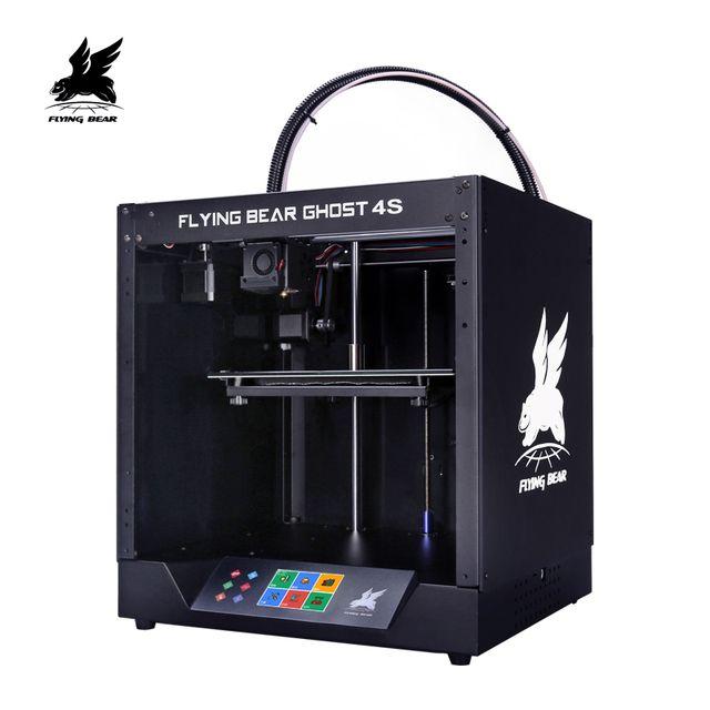 BPL US $310.75 Free shipping Flyingbear-Ghost4S full metal frame High Precision DIY 3d printer kit imprimante impresora glass platform