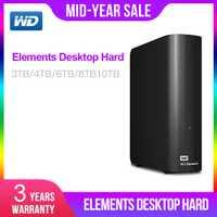 Western Digital 3 to 4 to 6 to 8 to 10 to éléments disque dur de bureau USB 3.0 disco duro externo 4 to WDBWLG0080HBK-NESN