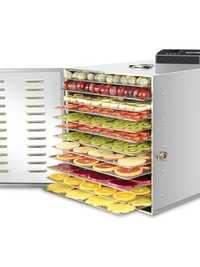 Deshidratador de frutas para alimentos de uso doméstico de 110/220V, secador de alta capacidad con 12 capas de Marcos secos, Máquina secadora de alimentos de poco ruido