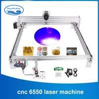 6550 15W CNC Machine de gravure Laser zone de travail 65cm * 50 cm, bricolage Laser graveur Machine, bois routeur, Laser Cutter, CNC routeur